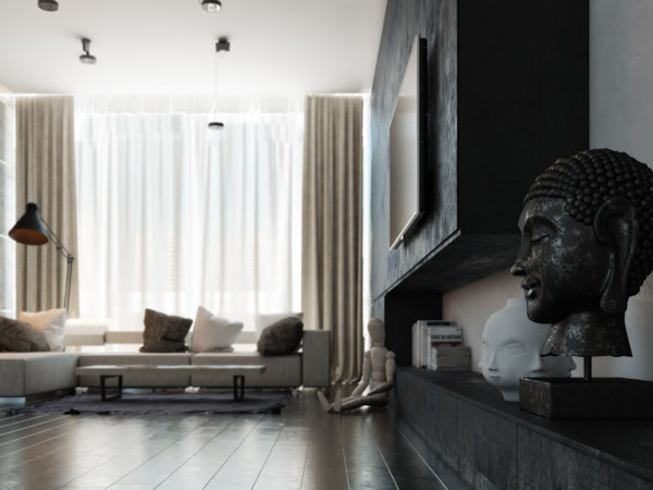 The space creates an image of a sophistication and life experience–not a bad image to project to your house guests!