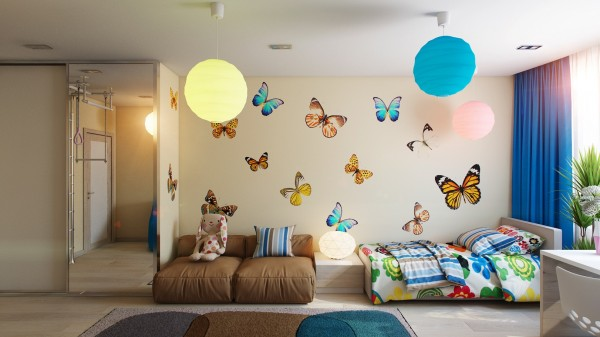 10 Butterfly theme bedroom 600x337 - cute & stylish Kids Rooms