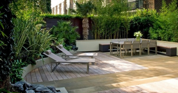 Contemporay yard design