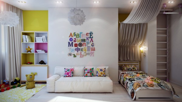 11 Modern kids decor 600x337 - cute & stylish Kids Rooms