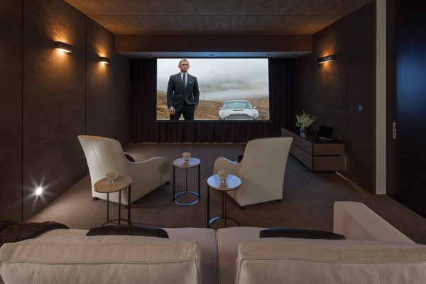 When the inhabitants are done enjoying the stunning skyline from the sun deck, infinity pool and hot tub, evenings can be whiled away in the private cinema room that holds seating for eleven people.