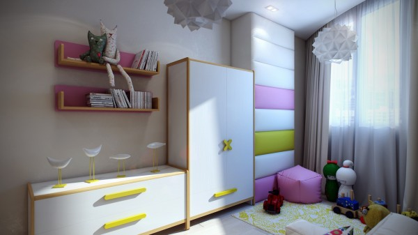 14 Modern kids room 600x337 - cute & stylish Kids Rooms