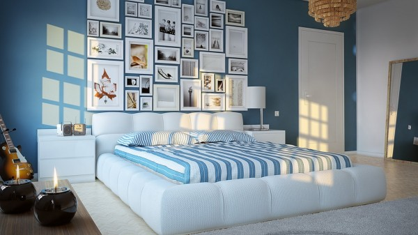 16 Blue white kids room 600x337 - cute & stylish Kids Rooms