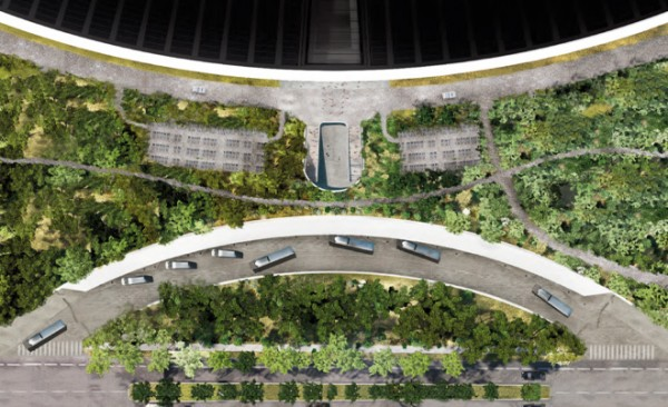 Apple Headquarters Transit Center Ring