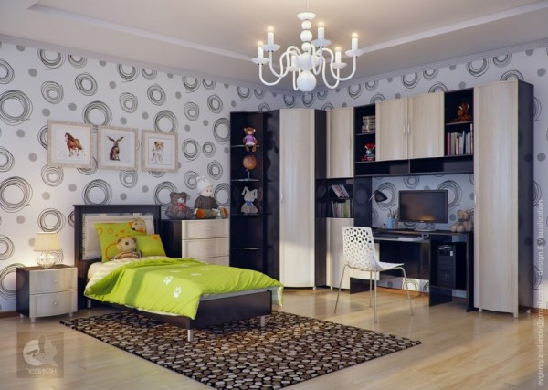 18 Neutral kids room 600x427 - cute & stylish Kids Rooms