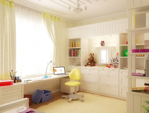 19 White kids bedroom 600x455 - cute & stylish Kids Rooms