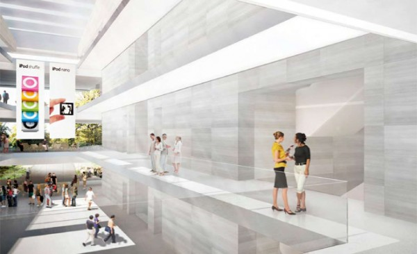 Inside the campus, the clear glazed theme continues across the mezzanine walkways to keep the interior feeling open.