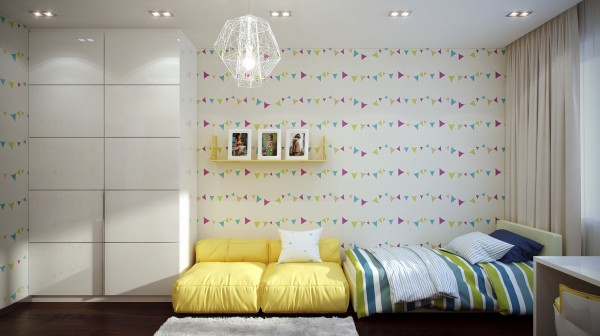 6 Funky kids room design 600x336 - cute & stylish Kids Rooms