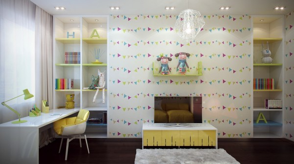 7 Fun kids room design 600x336 - cute & stylish Kids Rooms