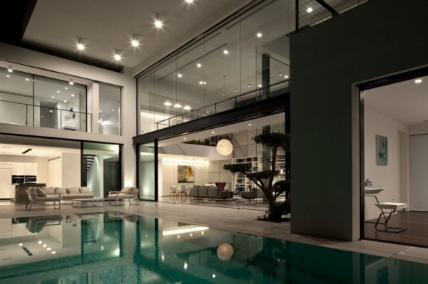contemporary pool lighting