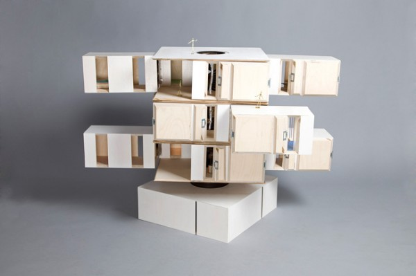 horizontal dollhouse