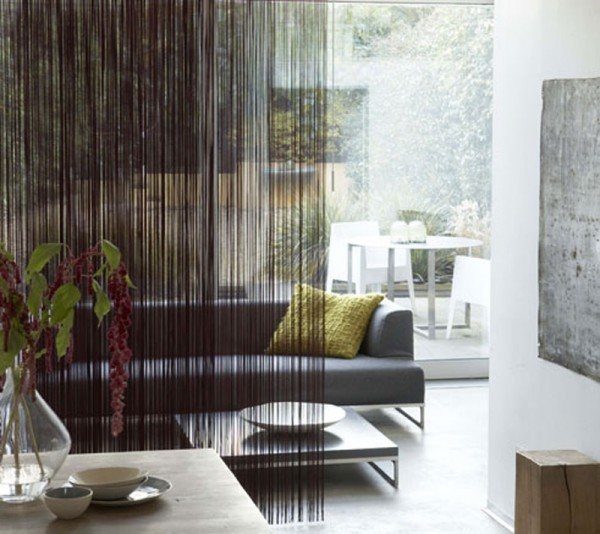 These luxurious beaded curtains would never be found in a - Room divider curtain ideas ...