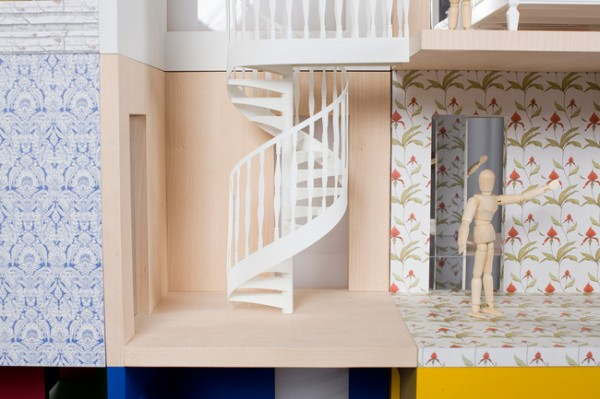 spiral dollhouse staircase