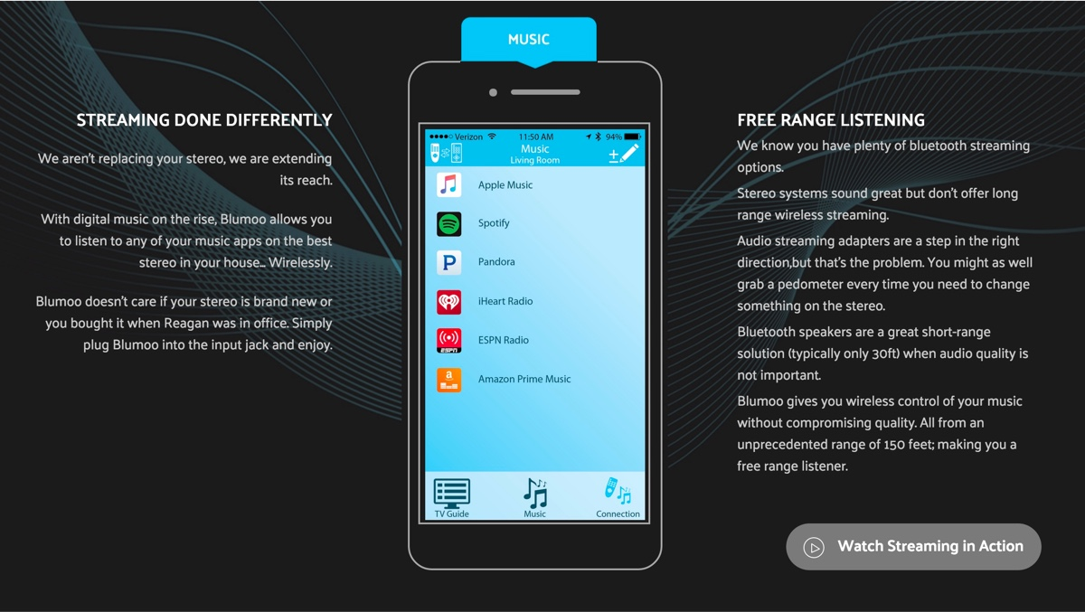streaming music smart remote