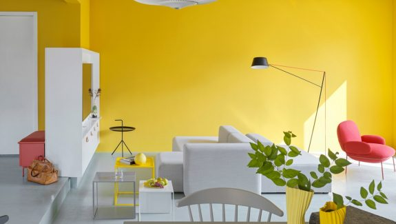 Fearless Yellow And White Home Decor With Terrazzo Touches