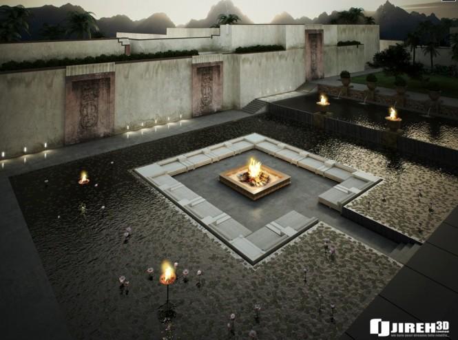 fire conversation pit