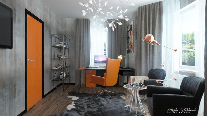 Orange theme workspace