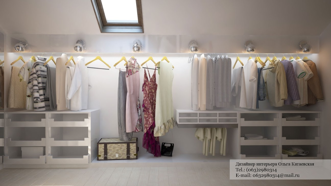 ideas for attic storage closet - Walk in wardrobe